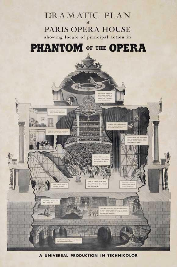 The Phantom of the Opera 11x17 Movie Poster (1943) – etriggerz.com