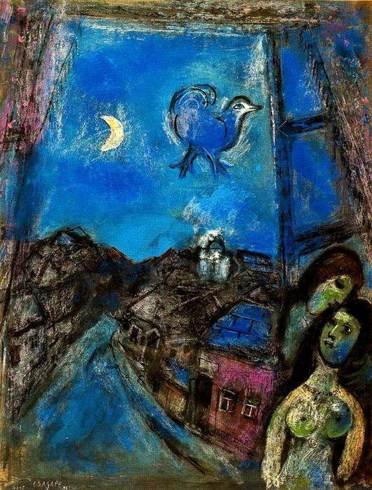 Описание картины Марка Шагала «Вечер у окна»
