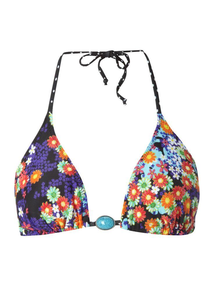 Hobie Reversible floral & polkadot triangle bikini top http://shop.pixiie.net/hobie-reversible-floral-polkadot-triangle-bikini-top-multi-coloured/