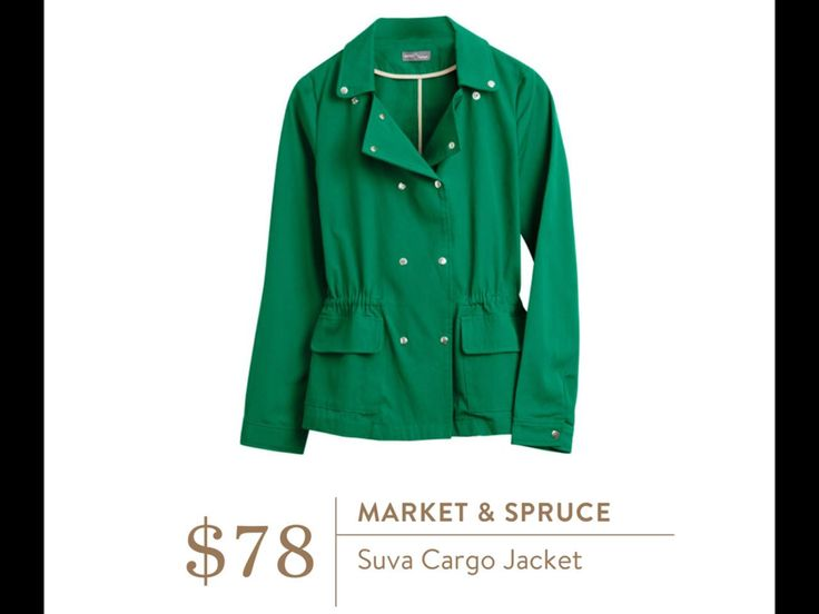STYLIST: I LOVE this jacket! A great color and I look good in a green like this. Do you think the double-breasted is too much for my smaller frame? Is there a single breasted version?