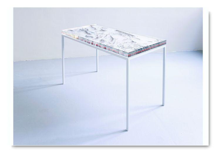 Agata Madejska, Factum, 2014,  UV-print on perspex, paper, powder-coated steel frame, 50x150x60 cm (one of sixteen)