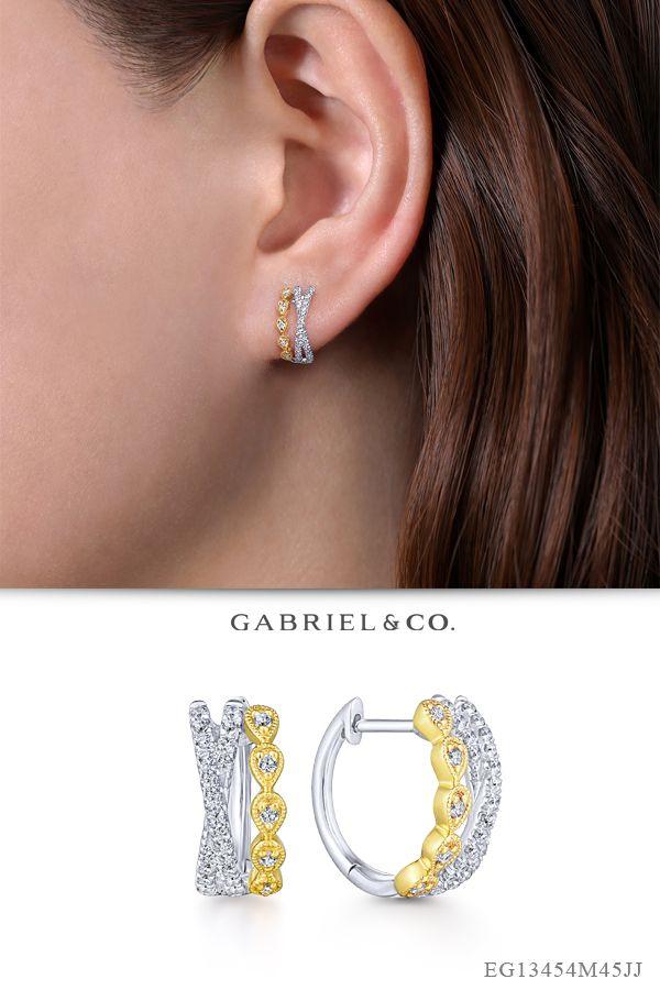 Solid 14k Yellow White Rose Gold Butterfly Huggie Hoop Earrings Huggies Fancy
