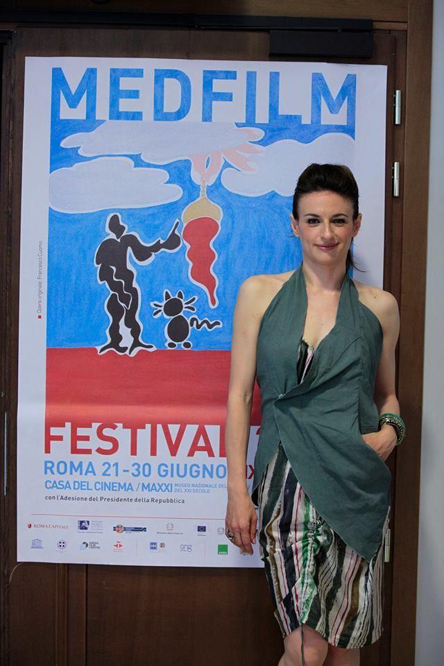 "Anita Kravos, actress in the last Paolo Sorrentino's movie ""La grande bellezza"", wears a total look Malloni at the press conference at Casa del Cinema in Roma in occasion of the MEDFILM FESTIVAL"