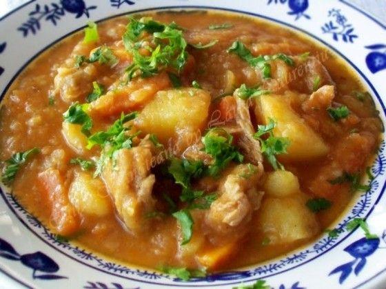 #papricas de #porc cu #cartofi, #reteta de #mancare #traditionala #romaneasca