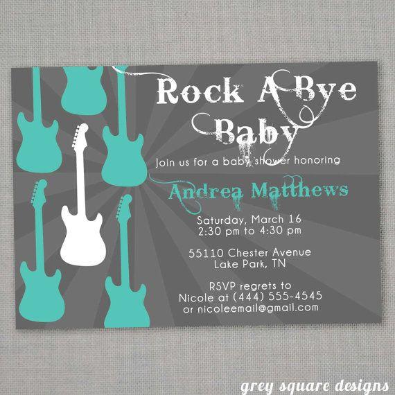 RockABye Baby Shower Invitation by greysquare on Etsy, $12.00