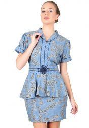 BATIK SEMAR  BATIK SEMAR Blouse Batik Printing Blue