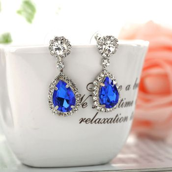 Blue Crystal  Earrings //Price: $ 9.97 & FREE Shipping //     #jewelry #jewels #jewel #fashion #gems #gem #gemstone #bling #stones   #stone #trendy #accessories #love #crystals #beautiful #ootd #style #accessory   #stylish #cute #fashionjewelry  #bracelets #bracelet #armcandy #armswag #wristgame #pretty #love #beautiful   #braceletstacks #earrings #earring