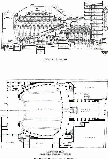 Masonic Temple Detroit Floor Plan The Fox Theater Floor