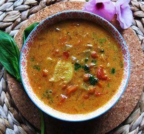 Exquisito #vegetariano!: Sopa thai de lentejas y jenjibre con leche de coco