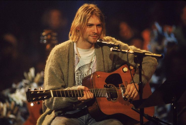 """Nirvana's acoustic performance on """"MTV Unplugged"""" on Nov. 18, 1994 was one of the band's last major performances before Cobain's death. The band performed hits like """"Come as You Are"""" as well as covers, such as David Bowie's """"The Man Who Sold the World."""" The concert was later released as an album, """"MTV Unplugged in New York."""""""