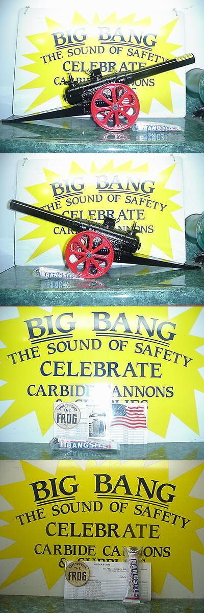Cast Iron 721: 15-F New In Box Big Bang Cannon Bangsite Calcium Carbide Cast Iron Conestoga Toy -> BUY IT NOW ONLY: $162.95 on eBay!