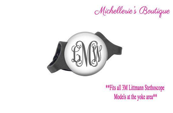 3M Littmann Stethoscope ID tag Monogram by MichelleriesBoutique