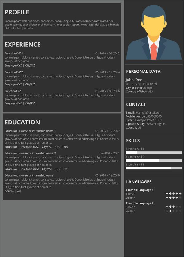 best 25  online resume template ideas on pinterest