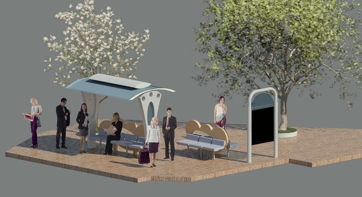 Solar Bus stop design