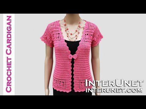 How to crochet lace cardigan jacket - YouTube
