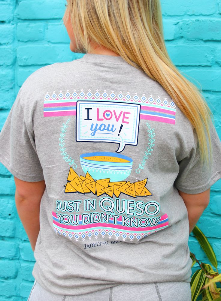 I Love You Queso (Lt Heather Grey) - Short Sleeve