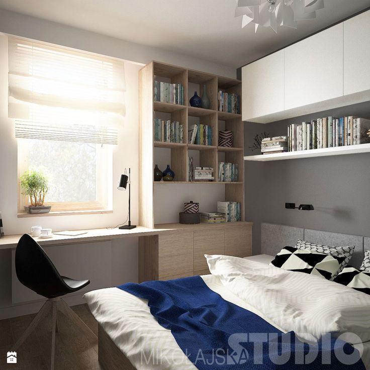 sypialnia-w-małym-mieszkaniu - zdjęcie od MIKOŁAJSKAstudio - Łazienka - Styl Nowoczesny - MIKOŁAJSKAstudio