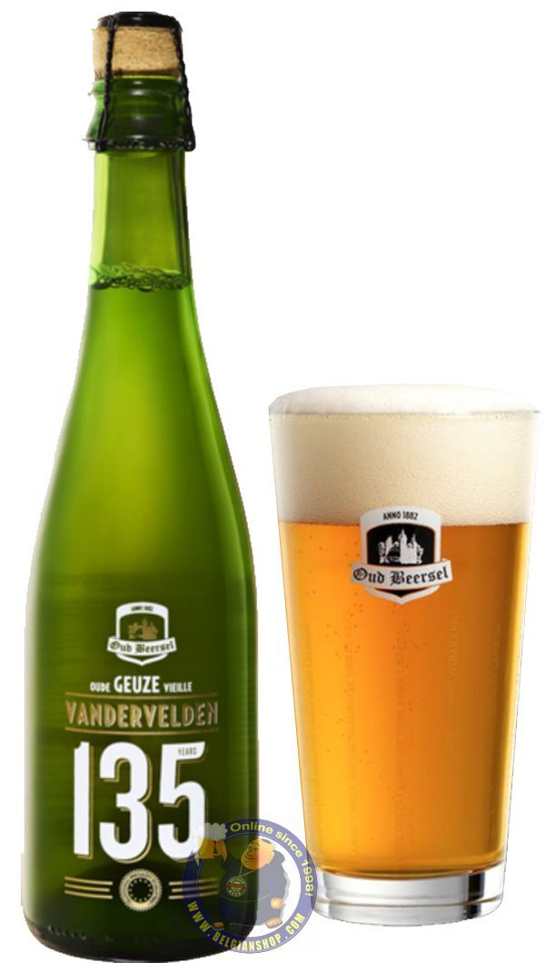 Our New Beer: Oud Beersel Oude Geuze Vandervelden 135 years  Available at http://store.belgianshop.com/geuze-lambic-fruits/2069-oud-beersel-oude-geuze-vandervelden-135-years.html  Vandervelden 135 Oude Geuze is a blend of 1-year-old lambic aged on foeders that were previously used for mainly red Brunello di Montalchino Tuscany wine and of 3-year-old lambic on an old Oud Beersel foeder. Pours golden with a fading white head, huge carbonation that goes quite quickly out of the beer. Touch…
