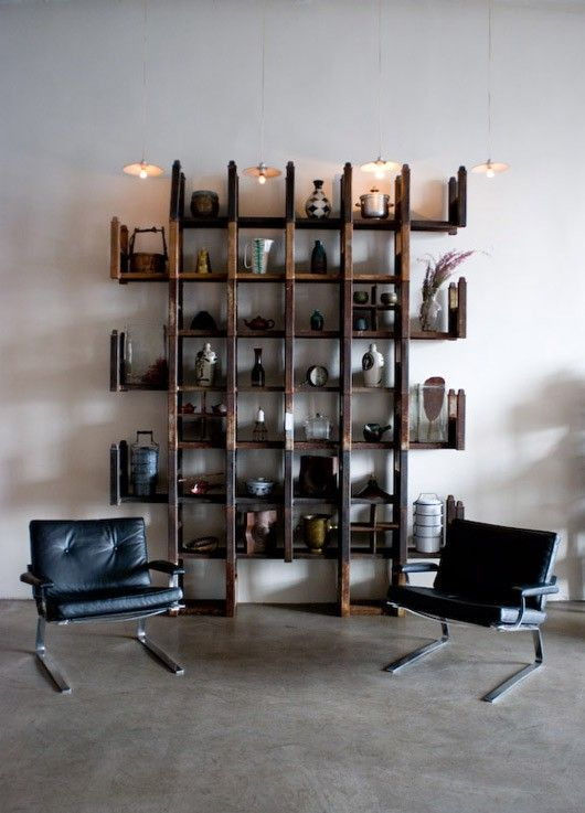 .: Bottle Display, Loft Studios, Cool Shelves, Bookca Shelves, Organizations Books, Wall Shelves, Photographers Studios, Cool Storage Ideas, Shelves United