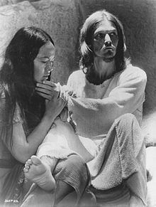 Yvonne Elliman and Ted Neeley as Mary Magdalene and Jesus. 1973