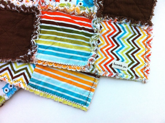 Boy Quilt: Baby Rag Quilts, Boys Blankets, Baby Boys