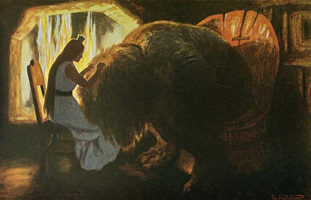 Theodor Kittelsen - Prinsessen lysker trollet, 1900 by Aeron Alfrey, via Flickr