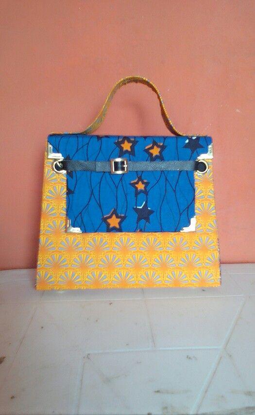 Mixed Ankara fabric box bag