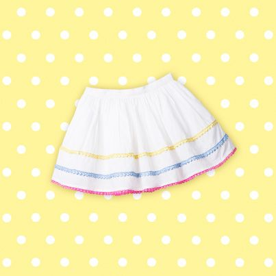 Pumpkin Patch Bobble Trim Skirt - available in sizes 12-18m to 6 years http://www.pumpkinpatchkids.com/