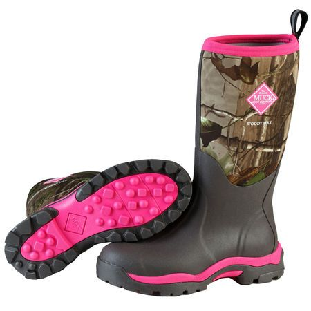 Muck Boot Women's Arctic Adventure Boot Designed with high-quality neoprene and rubber Lightweight EVA midsole grips that avoid dirt shed 4mm Muck-Prene Insulation for cold conditions Tall, slimming look that adds attractive appeal Soft, fleece lining and bright color choices