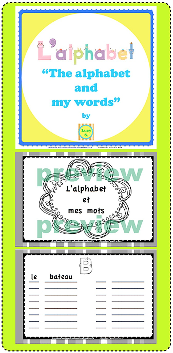 $ Create an alphabet book with your students. Start the school year with a vocabulary journal.