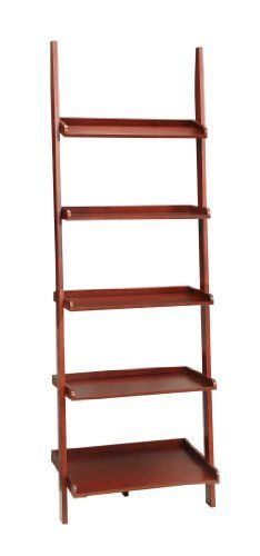 The French Country Bookshelf Ladder in Dark Cherry is a great addition to any home, office or even dorm. Featuring five spacious shelves in a glossy Dark Cherry finish, you can store your books or display knick knacks in style while adding a splash of color to your favorite room. Magnetic FB... more details available at https://furniture.bestselleroutlets.com/accent-furniture/ladder-shelves/product-review-for-convenience-concepts-french-country-bookshelf-ladder-dark-cherry/