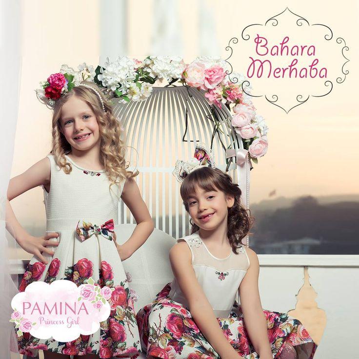 Rengarenk bir bahar Pamina kıyafetleri ile geliyor! Biz şimdiden çiçek açtık! :) This spring will be colorful like a flowers...   #fashionkids #dress #kids