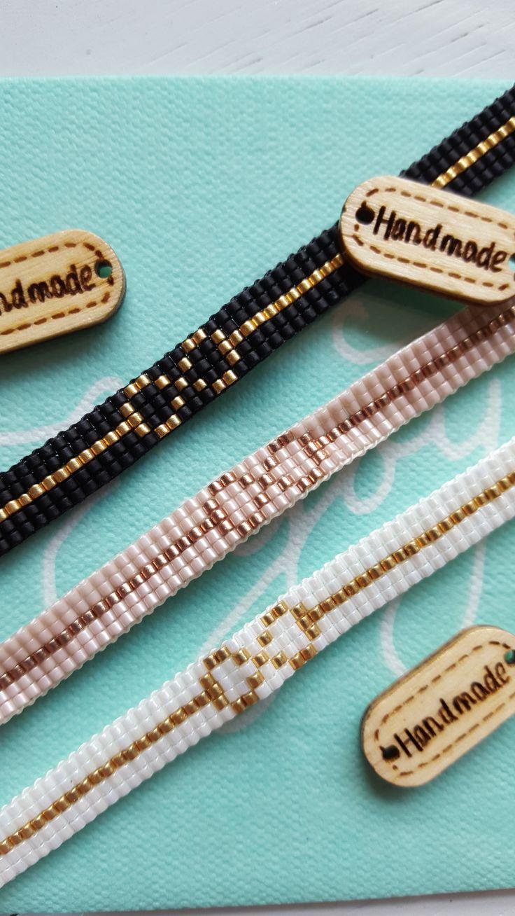 Chanelery Infinity armbanden, Miyuki kralen 24K en sluitwerk 18K gold plated. In 3 kleuren!