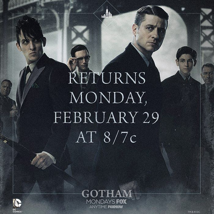 Yes we will be off the air for awhile but set this date in your calendars. It's a good one. @gothamonfox #gotham