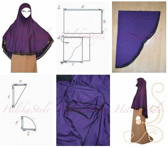 Как сшить аль-Амира хиджаб иранского стиля. Хиджаб с подбородком. :: Sewing…