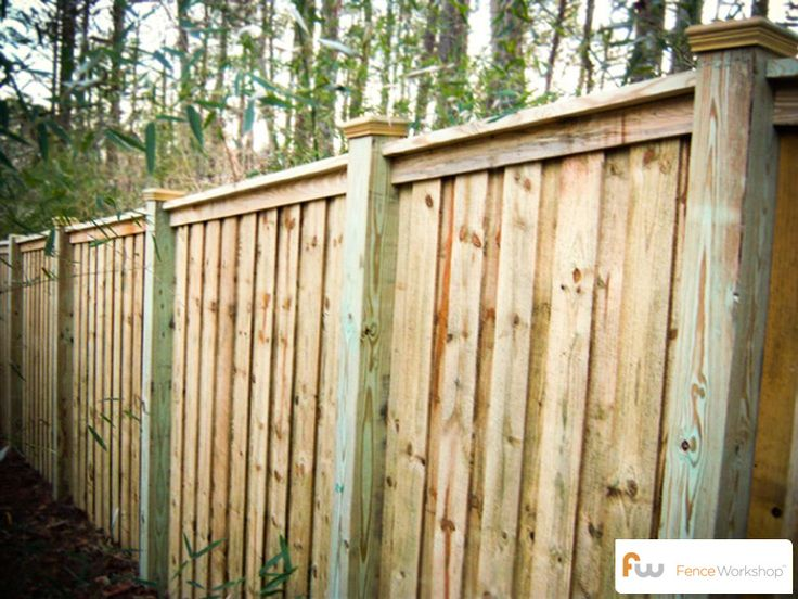 The mcworter wood privacy fence pictures per foot for Wood privacy fence ideas