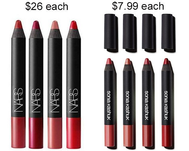 Try the Sonia Kashuk Velvet lip crayons instead of the NARS Velvet matte lip pencil and save about $18.