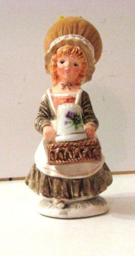 "Schmid Porcelain Girl Pin Cushion with Porcelain Thimble 61 2"" Tall   eBay /  Mar 14, 2014 / US $33.00"