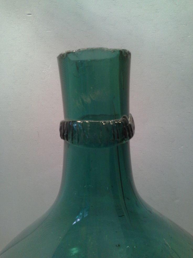 Antique Italian blown  glass flagon,  big bottle, antique demijohn di DemijohnItalian su Etsy