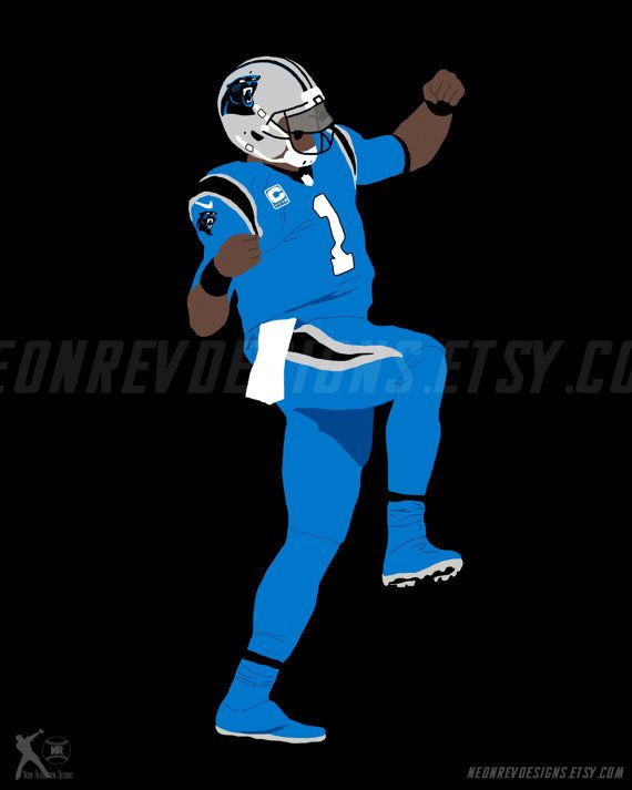 Cam Newton Dab Printed Poster by NeonRevDesigns on Etsy