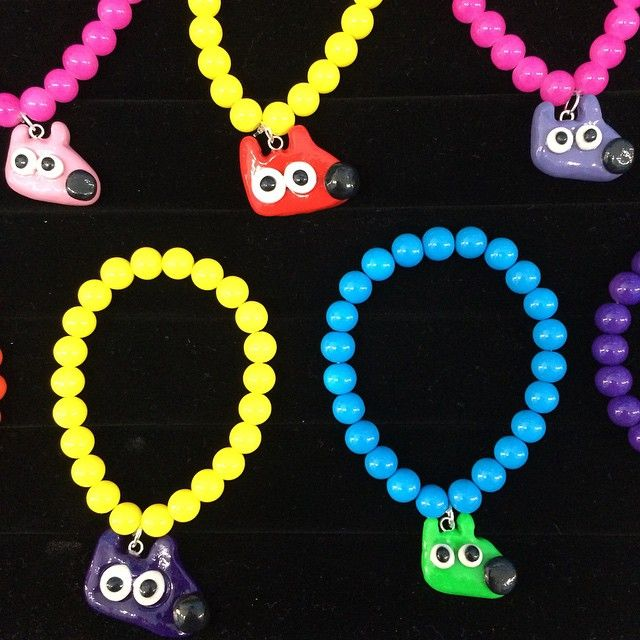 Stinky Bracelets made with great Stinky care by the Stinky artist. #Stinky #dog #dogs #bracelet #jewelry #charms #blue #purple #pink #cute #fun www.stinkydog.com