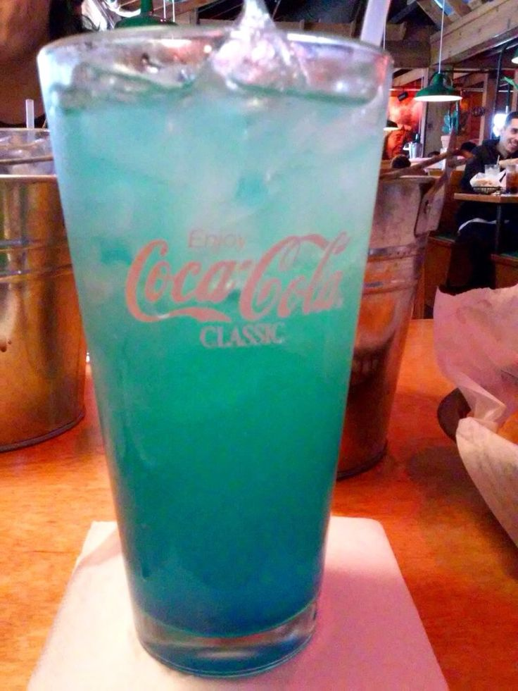 blue crush lemonade  instructions  fill tall glass with