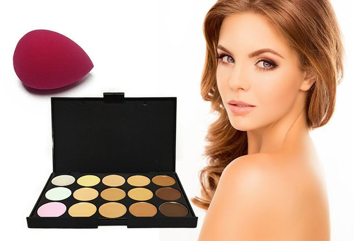 Buy 15-Shade Contouring Concealer Palette & Blender Sponge UK deal for just £5.00 £5 instead of £49.98 for a 15-shade contouring concealer palette & blender beauty sponge from Forever Cosmetics - save 90% BUY NOW for just £5.00