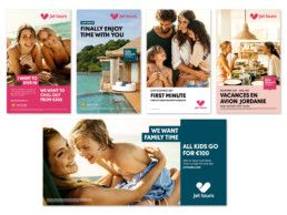 JET TOURS As a part of a thorough rebranding project for the French tour operator Jet tours, M Lithvall worked on the brand guidelines in cooperation with Thomas Cook Group plc and Bureau Ecco. We started with creating the colour scheme that Jet tours now use in their overall communication in printed and digital channels. The colours were then applied to a series of templates for magazine adverts, posters, brochures and other marketing material.