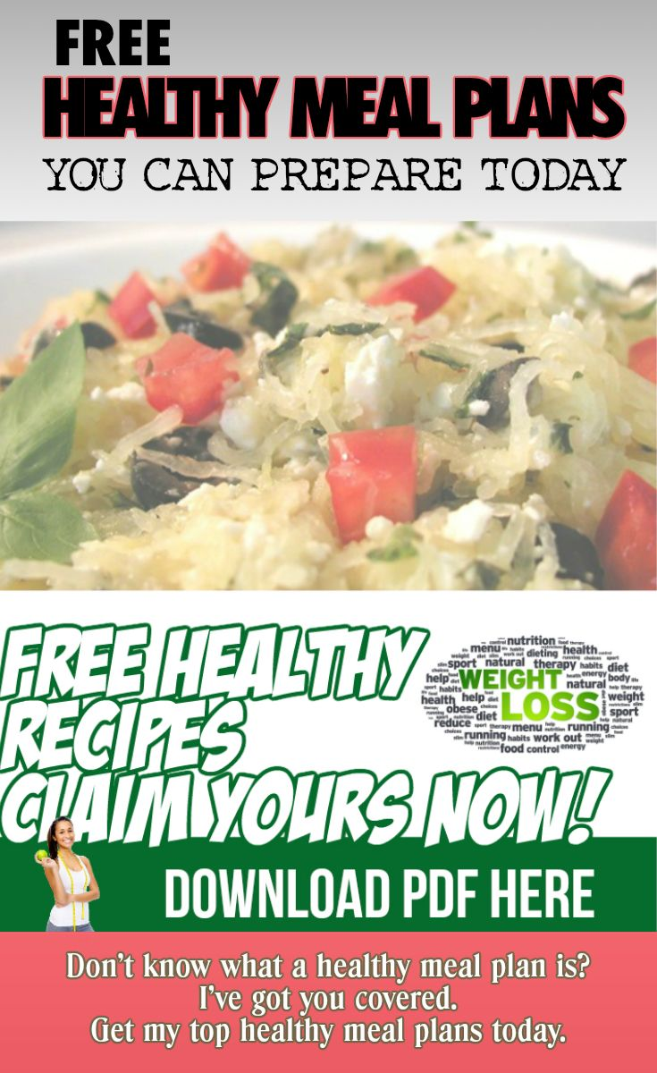 Free Healthy Meal Plans. Okay, I have taken the steps to remove any excuses not to start living a healthy lifestyle. You now have access to Free Healthy Meal Plans... You also have access to support, tools, and resources to help you start your journey dow the road to weight loss and/or healthy living.