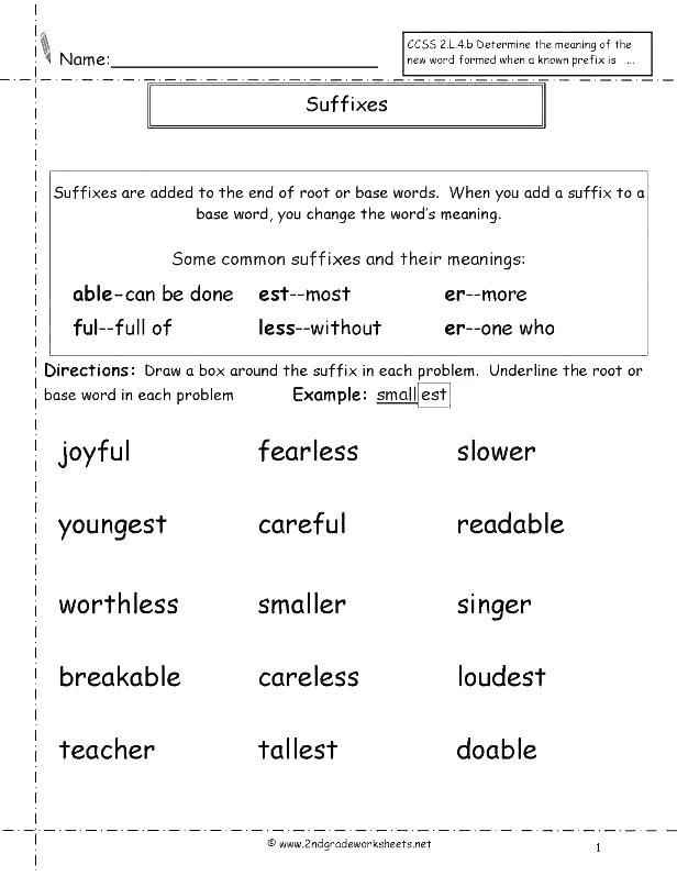 Prefix And Suffix Worksheets With Images Suffixes Worksheets