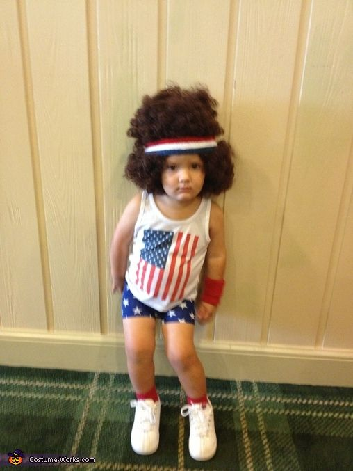Sarah: My 22 month old son, Matthew, is wearing the Richard Simmons costume. My cousin, Jenni, came up with the idea and I ran with it.