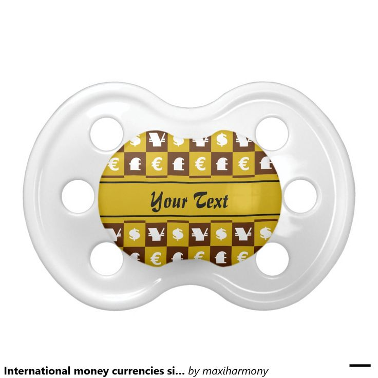 International money currencies signs pattern BooginHead pacifier