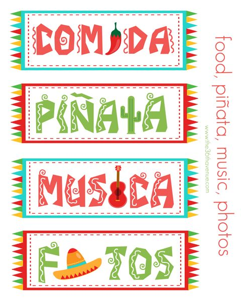 5 de Mayo Free Printable Party Kit by the36thavenue.com ...Have a fiesta!