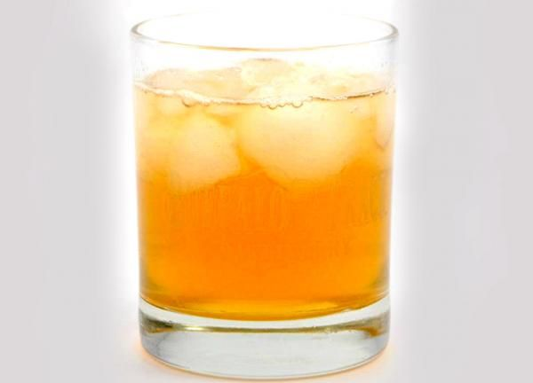 Winnie the Pooh cocktail! 2 oz. Jack Daniels Honey, 1/2 oz. Spiced Rum, 1/2 oz. Sour Mix, 1 oz. Apple Juice